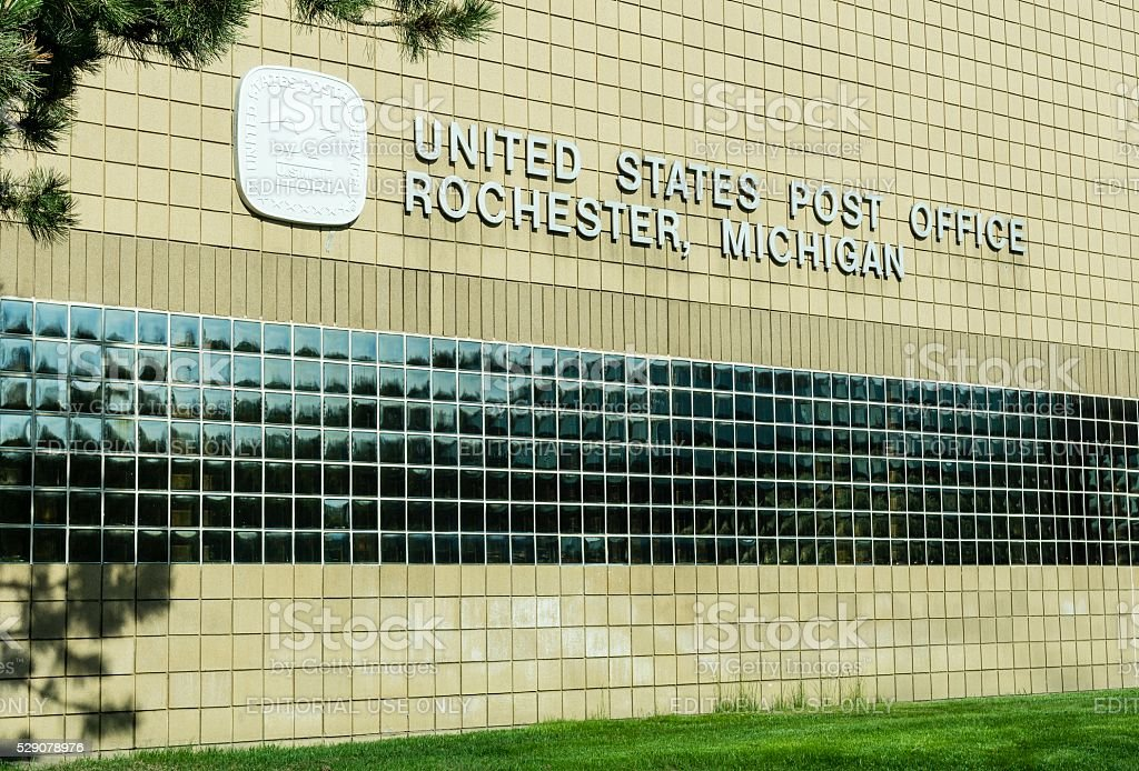United States Post Office Rochester, Michigan stock photo