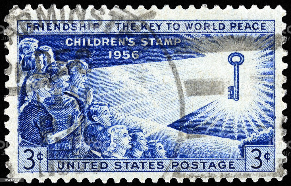 United States Postage Stamp stock photo