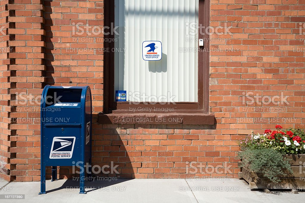 United States Postal Service In Rural America stock photo