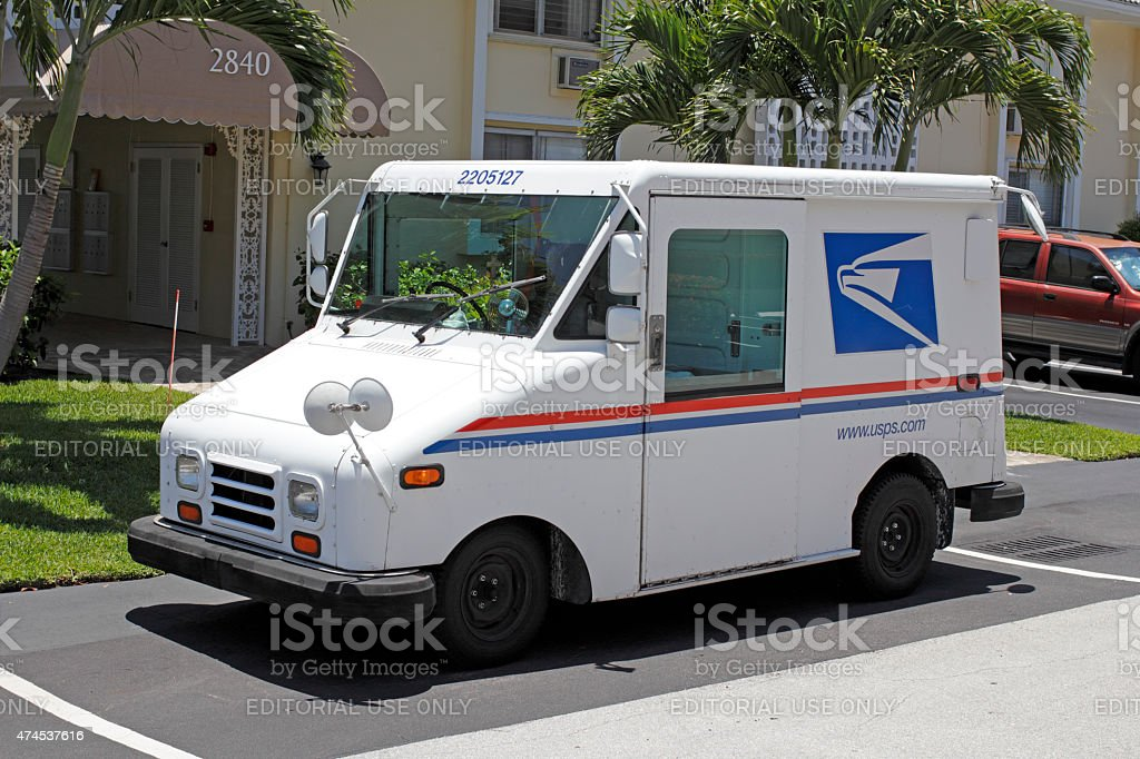 United States Postal Service Truck stock photo