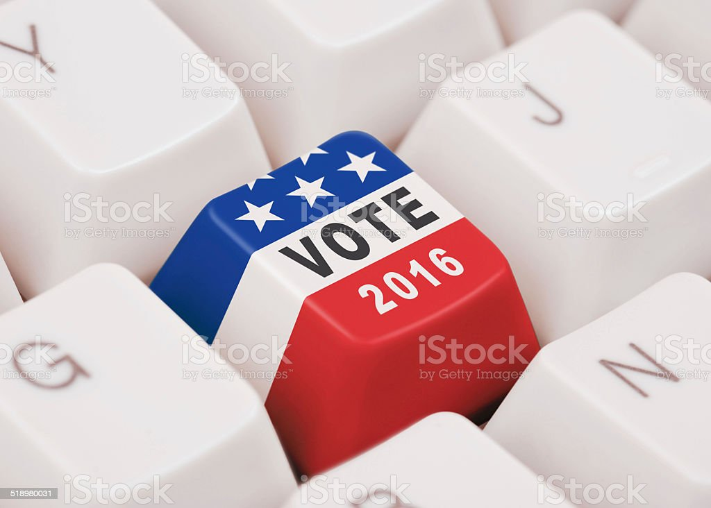 United States presidential election, 2016 stock photo