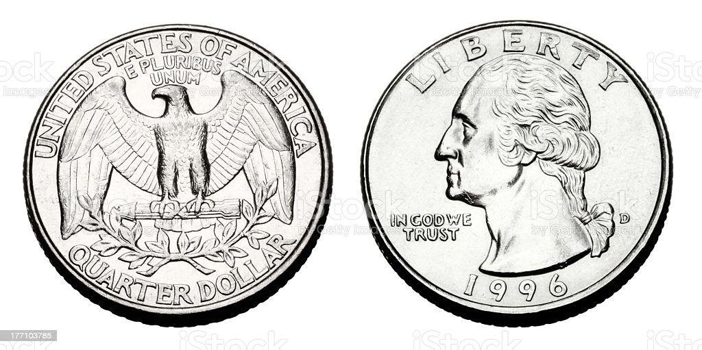 United States Quarter Dollar stock photo