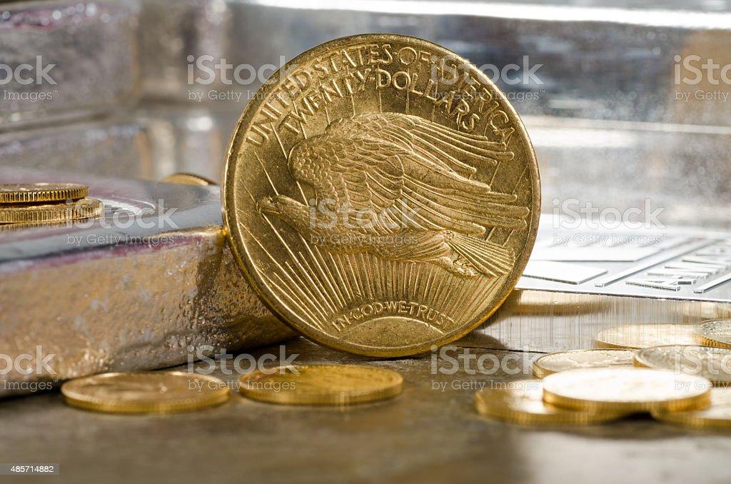 United States Saint Gaudens Double Eagle Gold Münze Mit Silbernen B