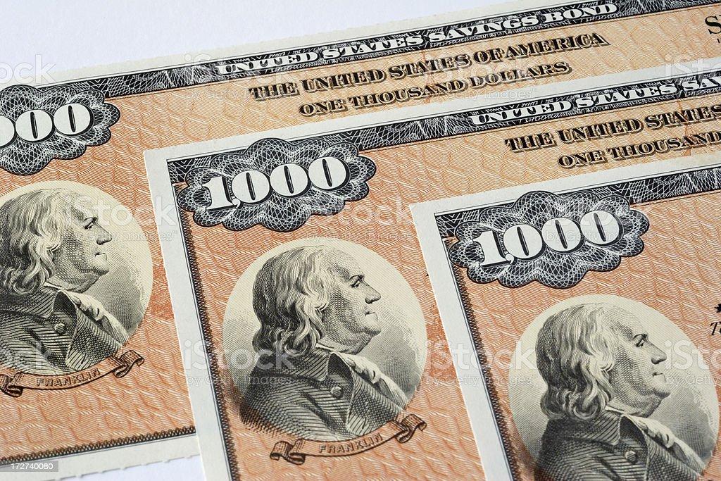 United States Savings Bonds stock photo