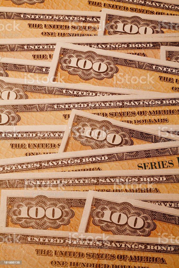 united states savings bonds royalty-free stock photo