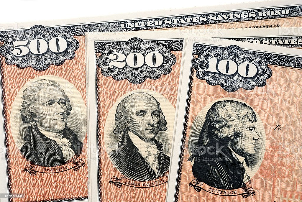 United States Savings Bonds Series EE royalty-free stock photo