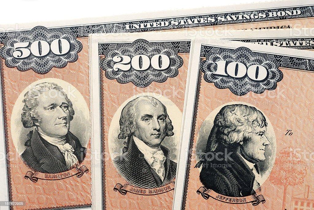 United States Savings Bonds Series EE stock photo