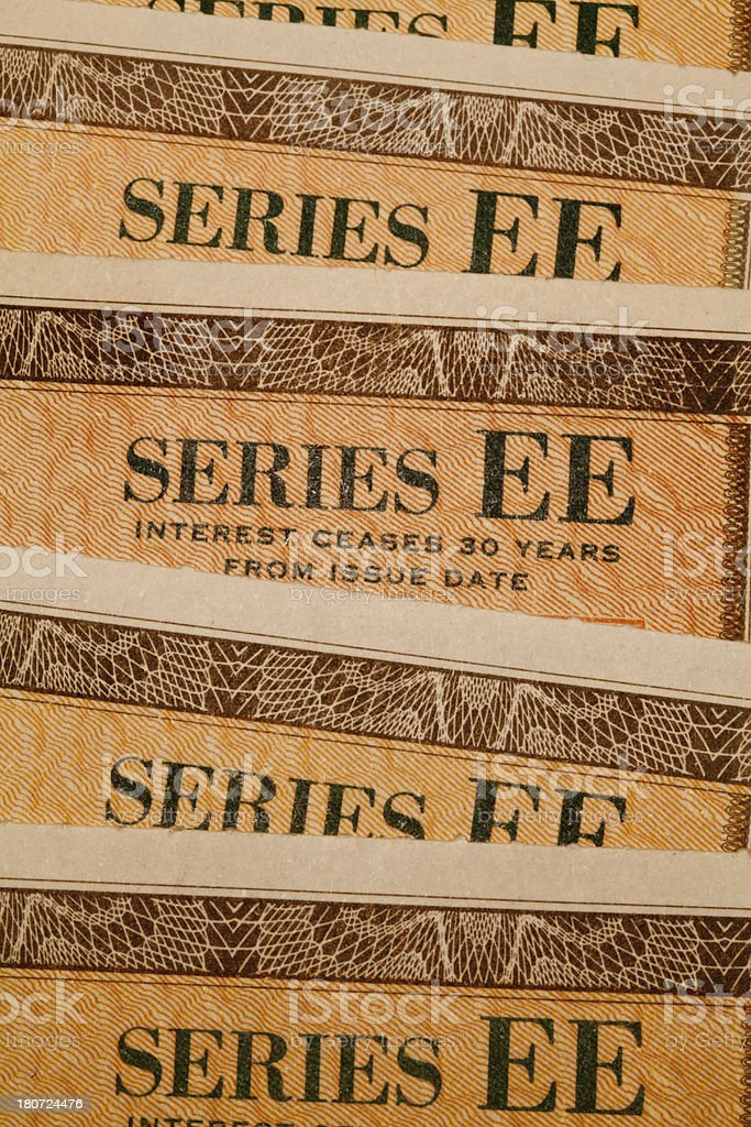 united states savings bonds, up close stock photo