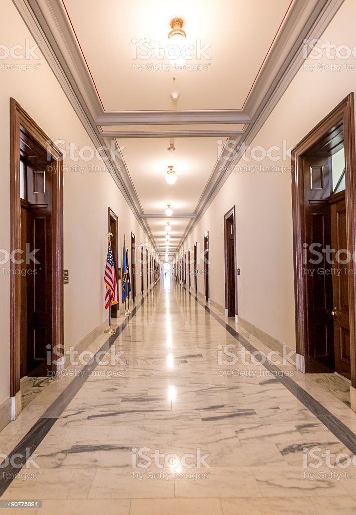United States Senate Russell Office Building Hallway stock photo
