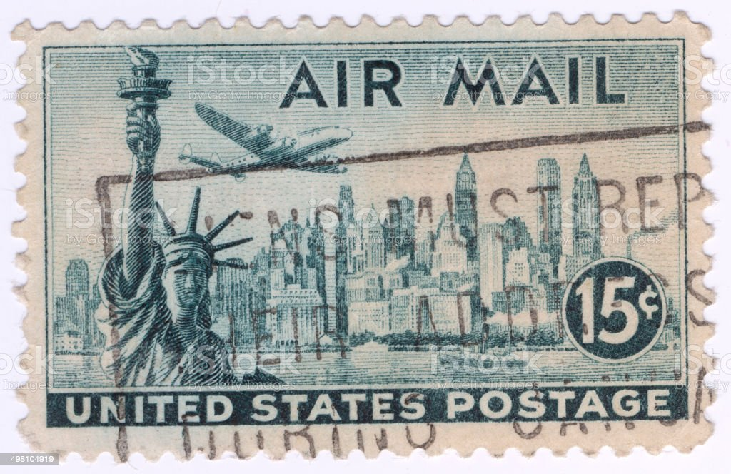 United States Stamps stock photo