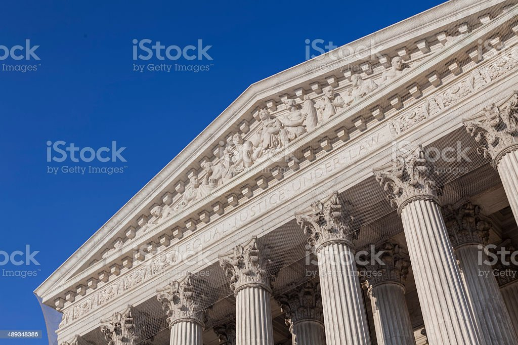 United States Supreme Court building in Washington D.C. stock photo