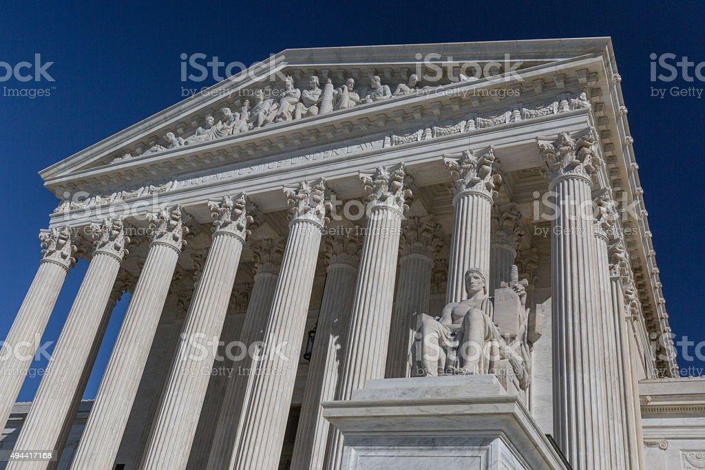 United States Supreme Court Building in Washington, DC stock photo
