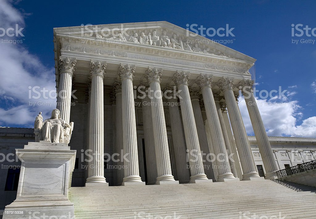 United States Supreme Court Building Washington DC royalty-free stock photo