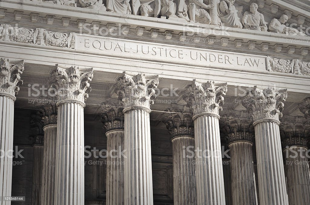 United States Supreme Court Entrance stock photo