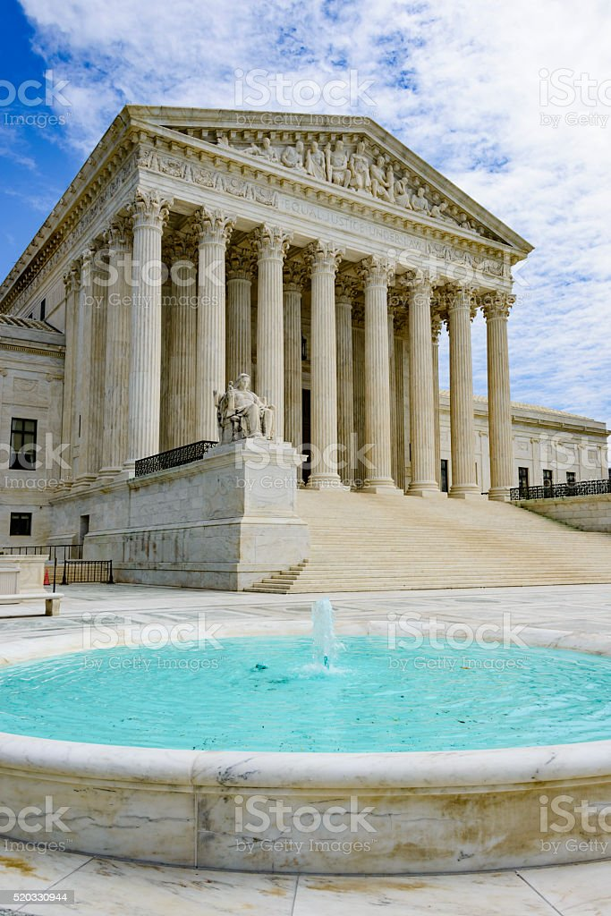 United States Supreme Court in Washington DC stock photo