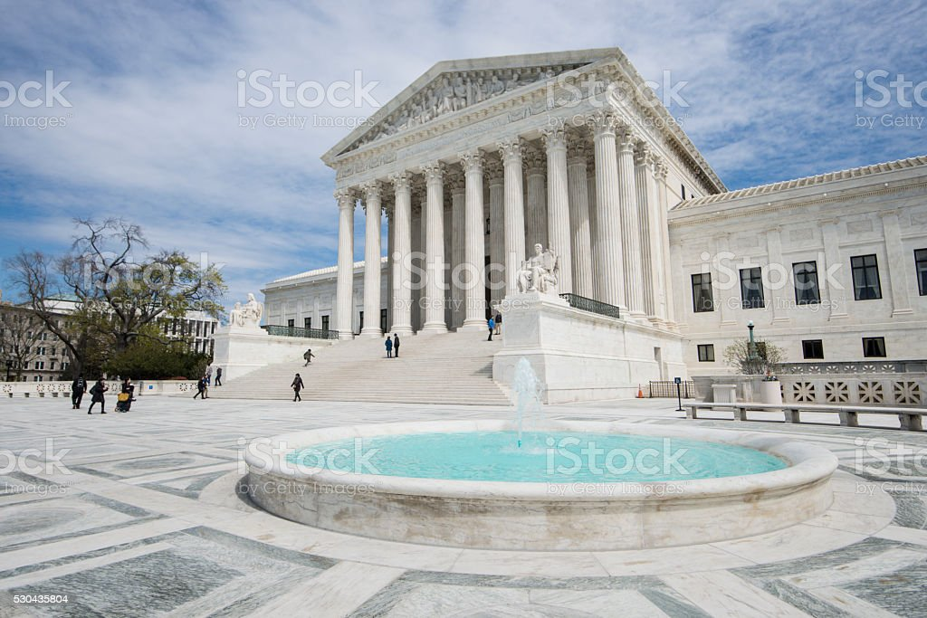 United States Supreme Court in Washington DC stock photo