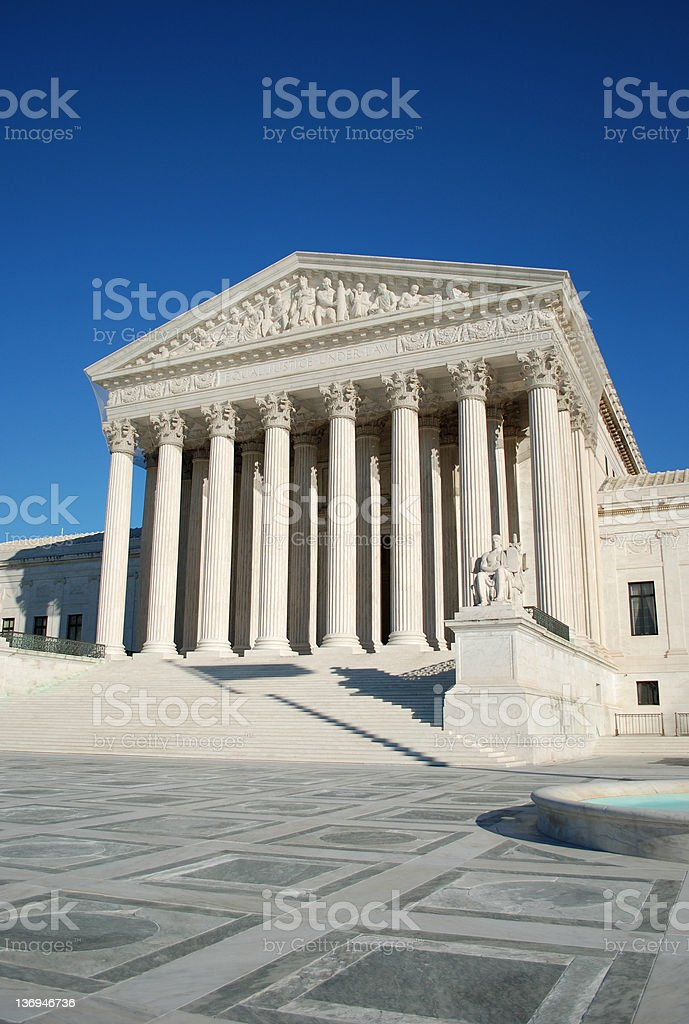 United States Supreme Court royalty-free stock photo
