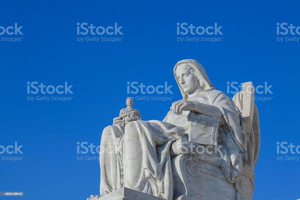 United States Supreme Court status in Washington DC stock photo