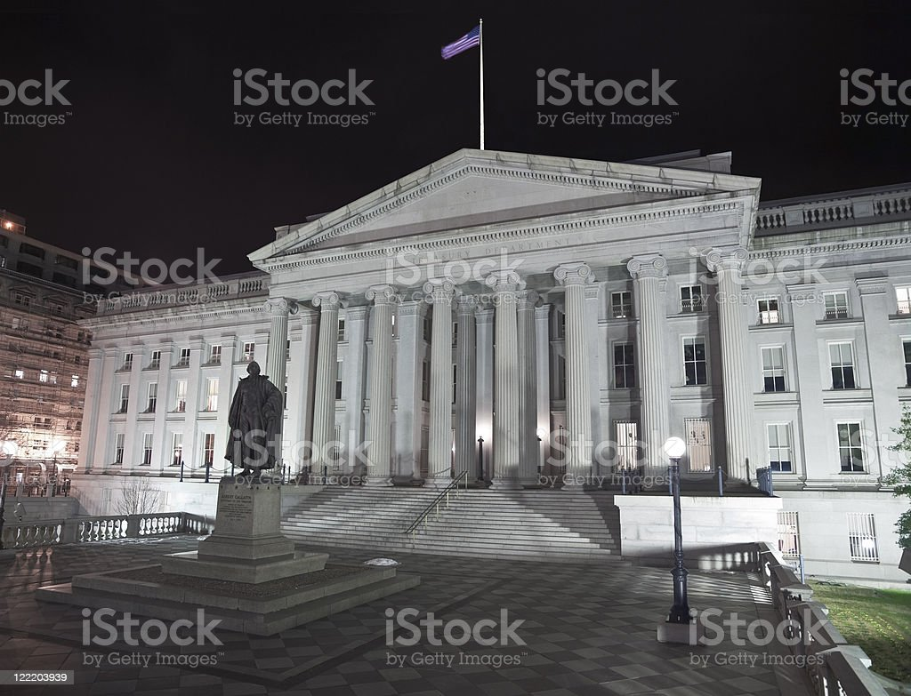 United States Treasury Building - Washingting DC stock photo