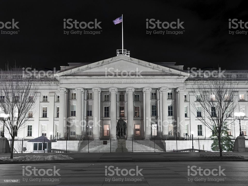 United States Treasury Building - Washington DC stock photo