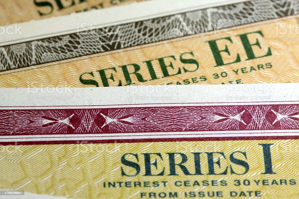 United States Treasury Savings Bonds stock photo