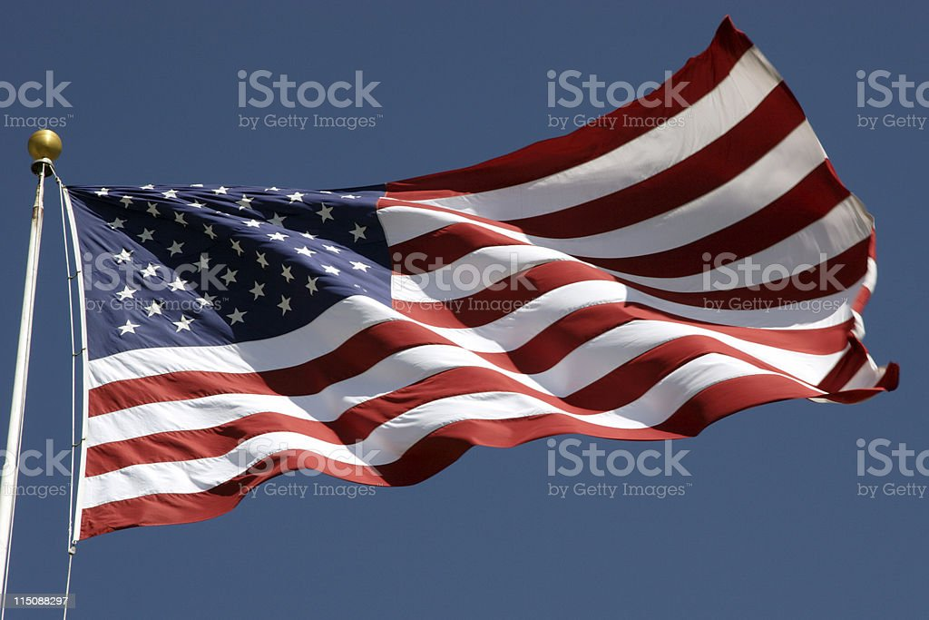 United States U.S. Flag royalty-free stock photo