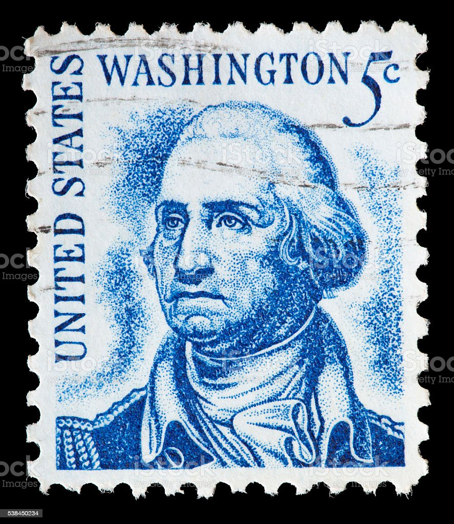 United States used postage stamp showing President George Washington stock photo
