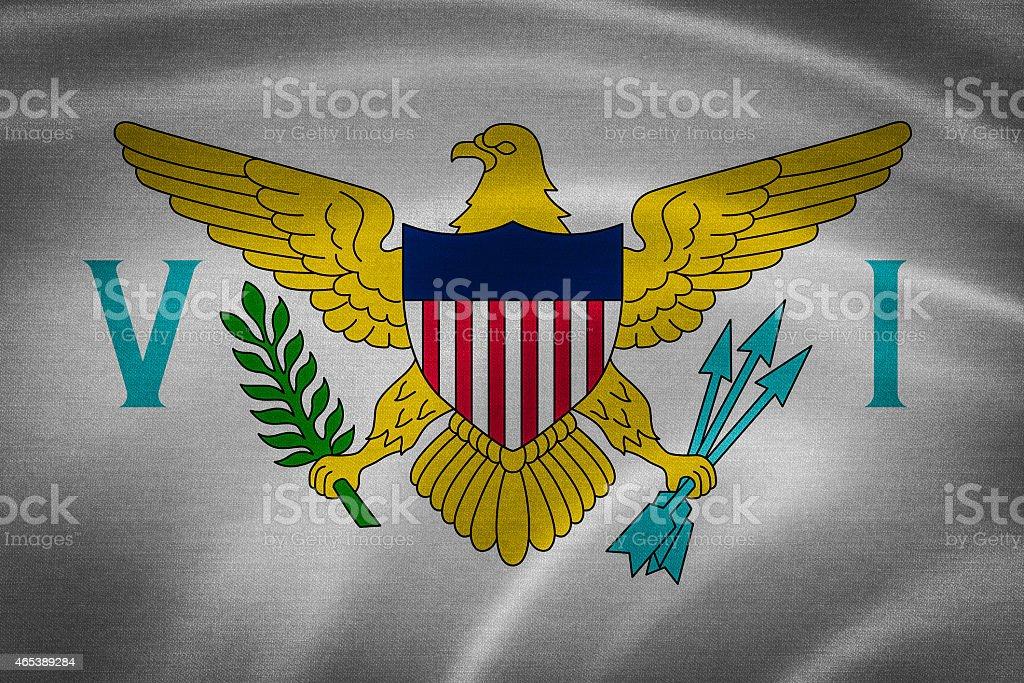 United States Virgin Islands Flag stock photo