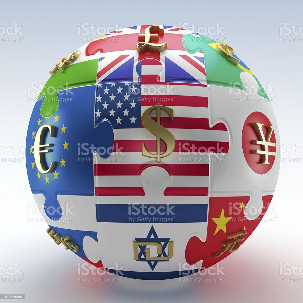 United world economies royalty-free stock photo