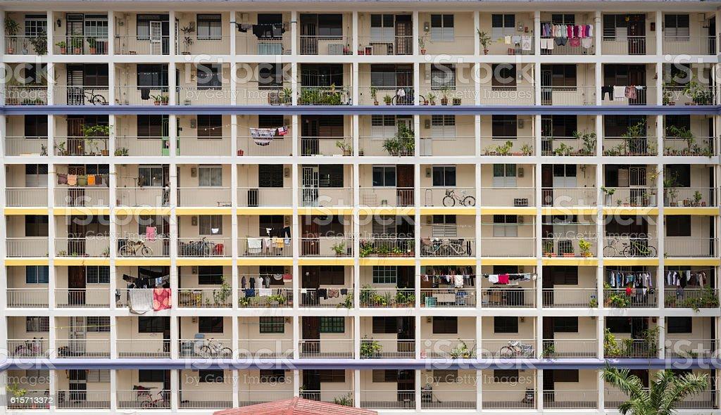 48 units of Public Housing Apartments, Singapore stock photo