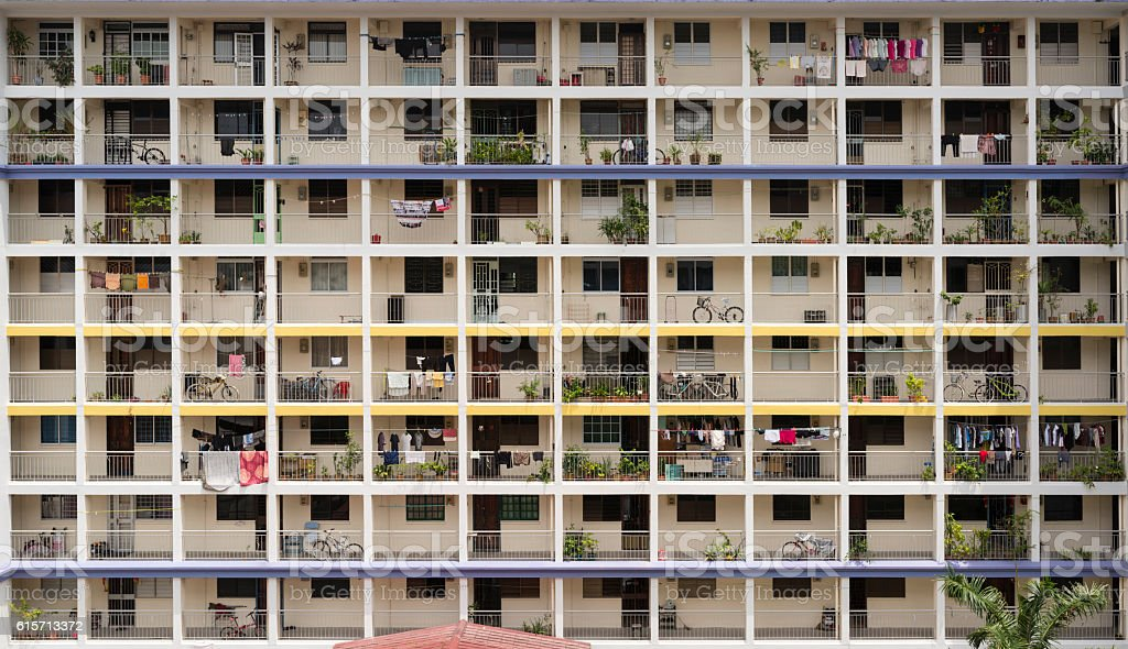 48 units of Public Housing Apartments, Singapore stock photo