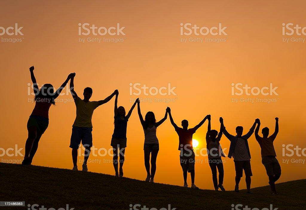 Unity and Celebration royalty-free stock photo