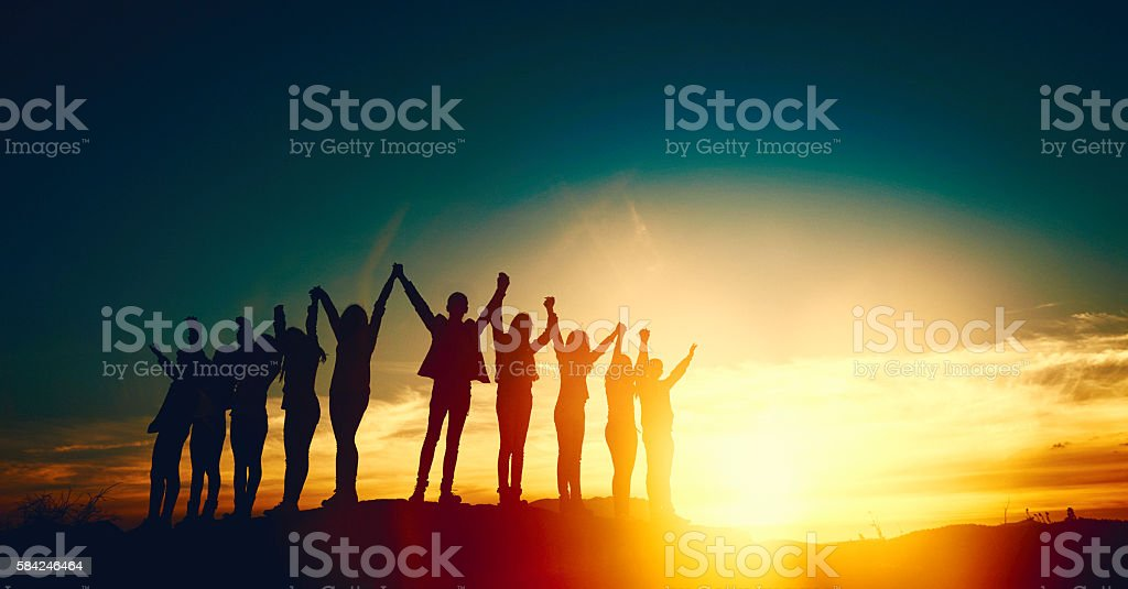 unity and friendship stock photo