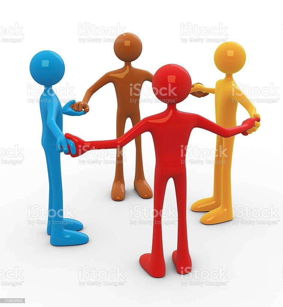 Unity in diversity royalty-free stock photo