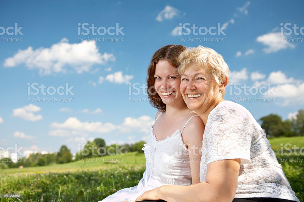 Unity of generations royalty-free stock photo