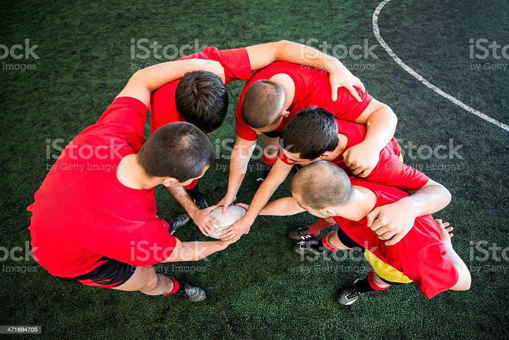 Unity of rugby team. royalty-free stock photo