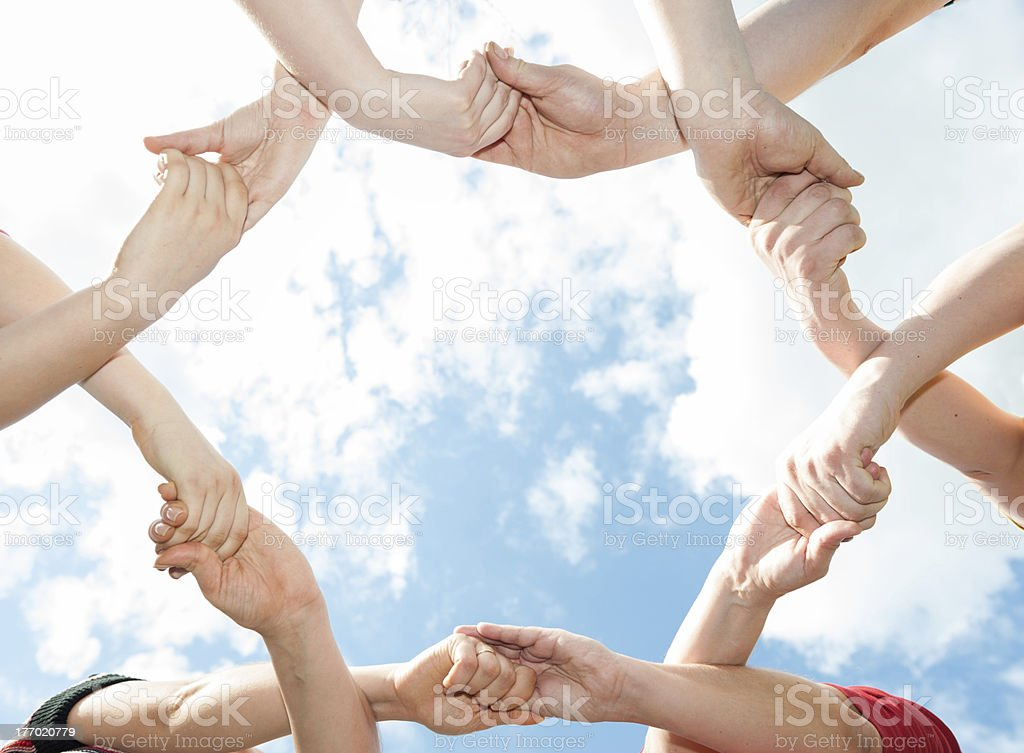 unity of the hands stock photo