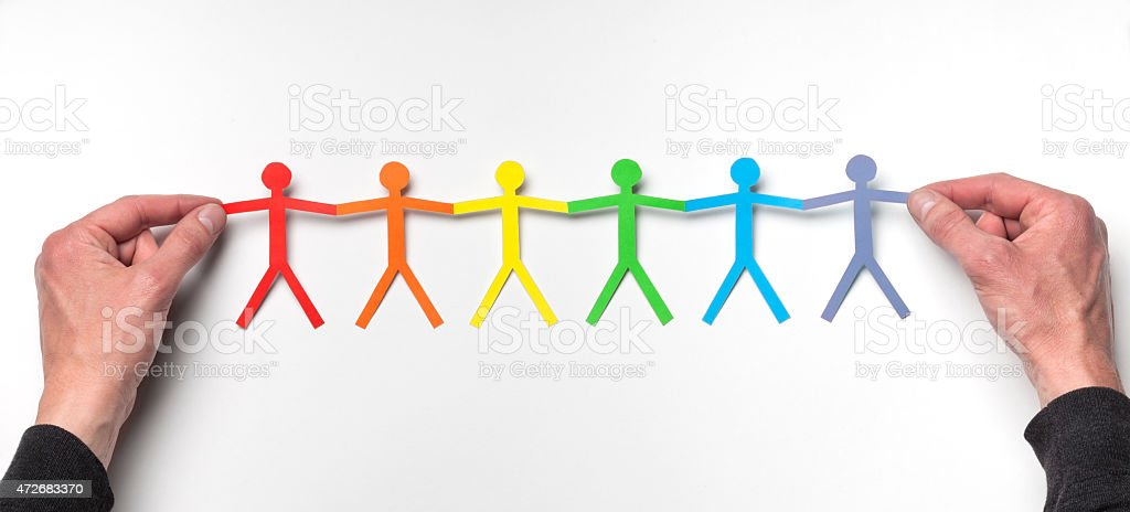 Unity with the LGBT Community stock photo