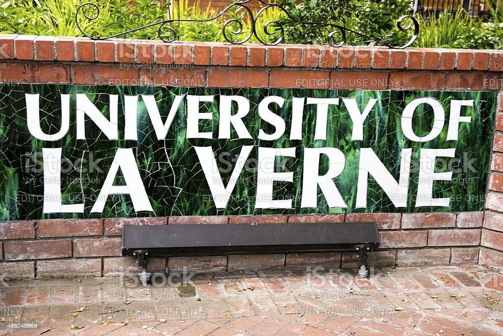 Univ of La Verne royalty-free stock photo