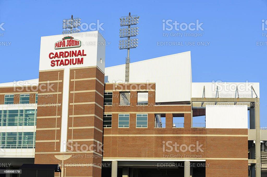 Univeristy of Louisville Cardinal Football Stadium royalty-free stock photo