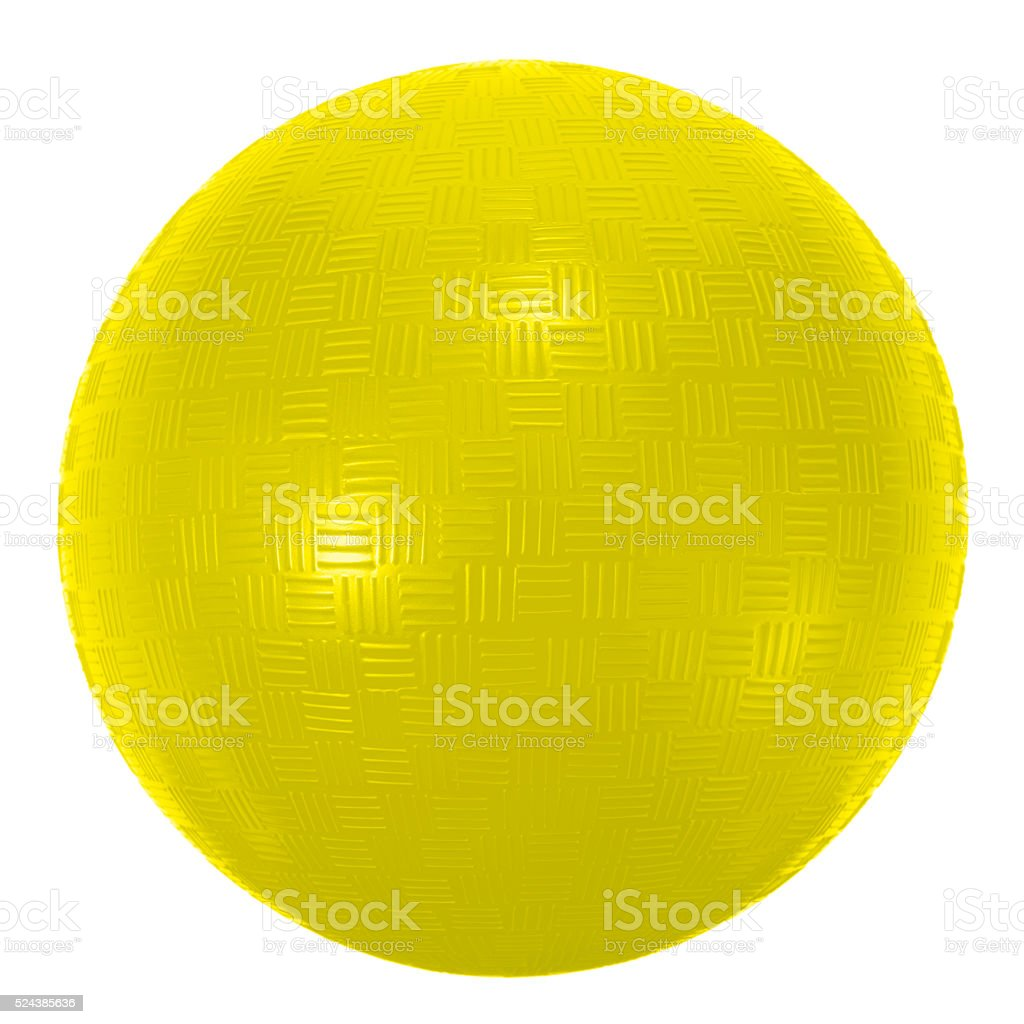 Universal playground yellow sports ball on  white background stock photo