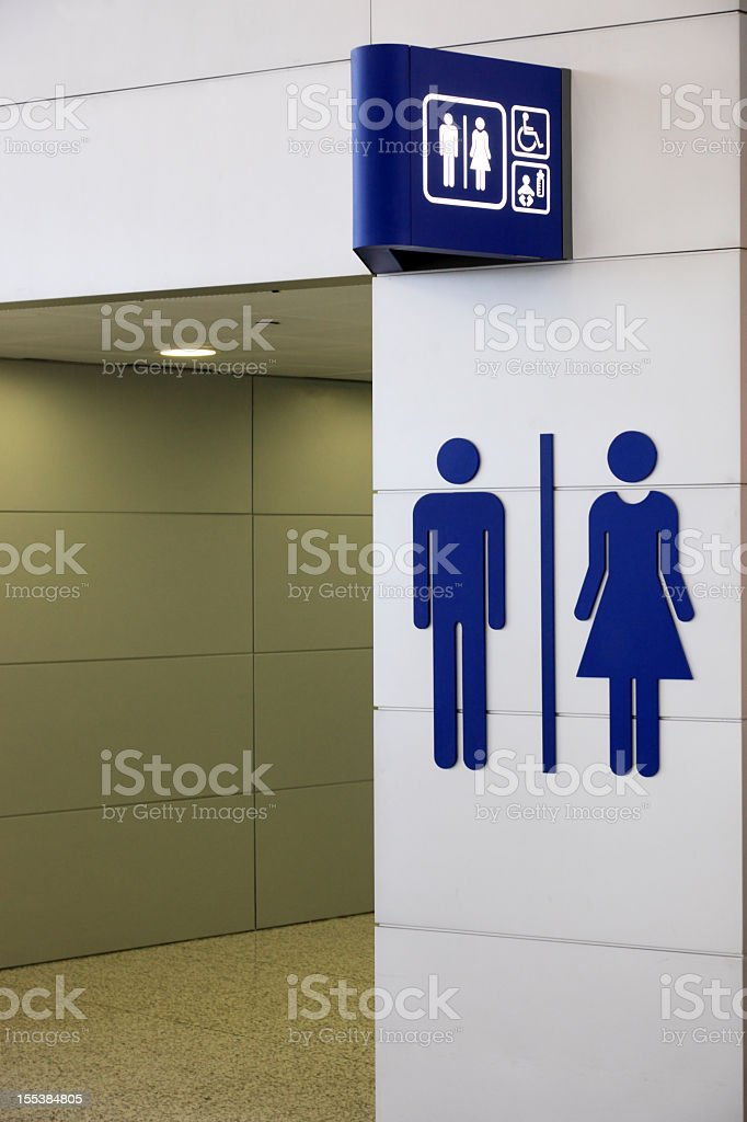 Universal sign for restroom stock photo