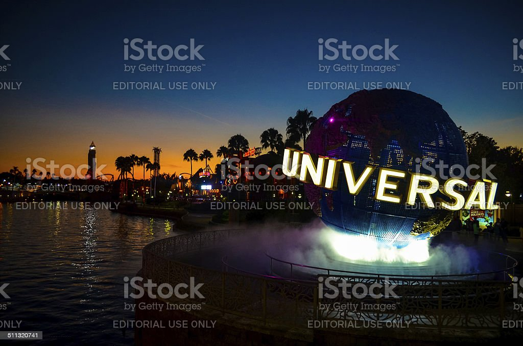 Universal Studios at Sunset stock photo