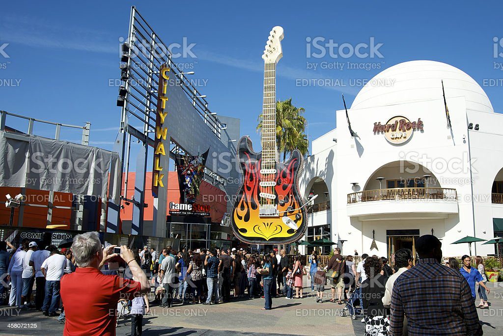 Universal Studios Hollywood Hard Rock Cafe stock photo
