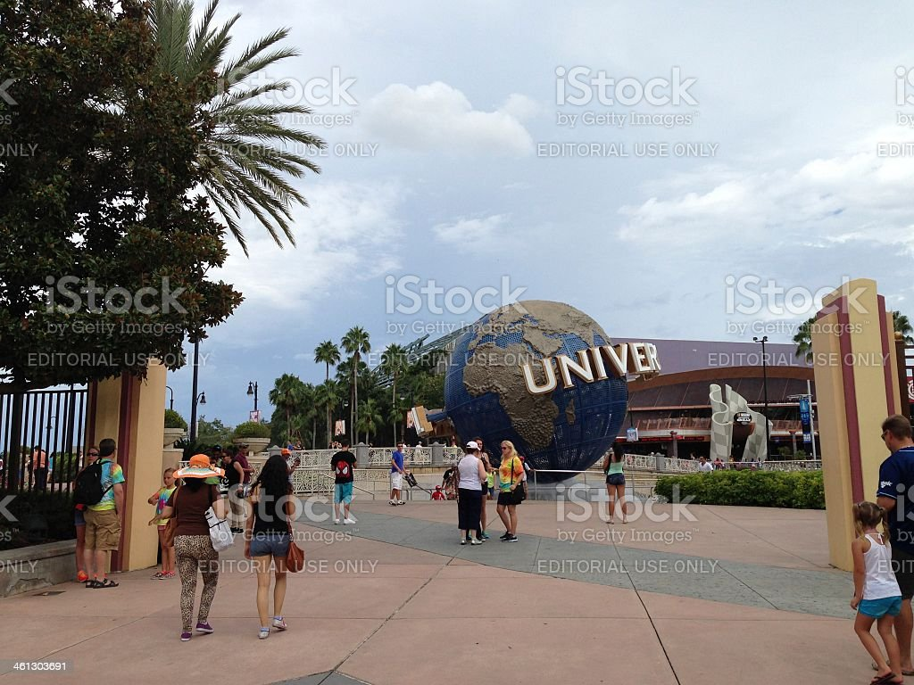 Universal Studios Orlando entrance stock photo