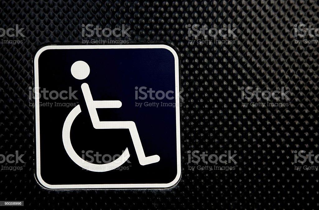 Universal wheelchair access symbol stock photo