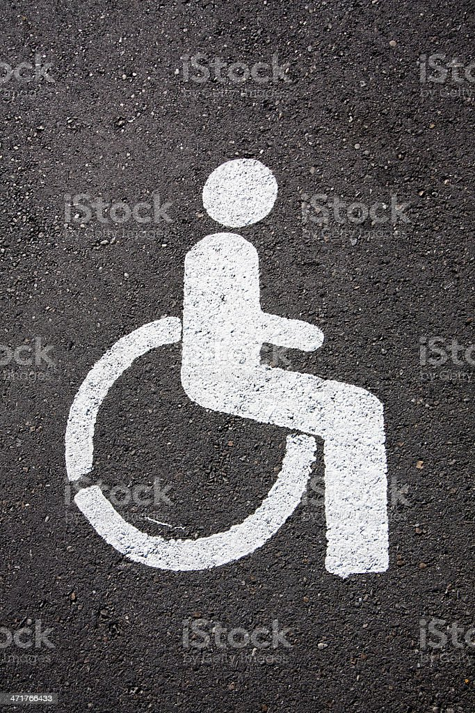 Universal wheelchair symbol. royalty-free stock photo