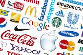 Universally popular brand logotypes
