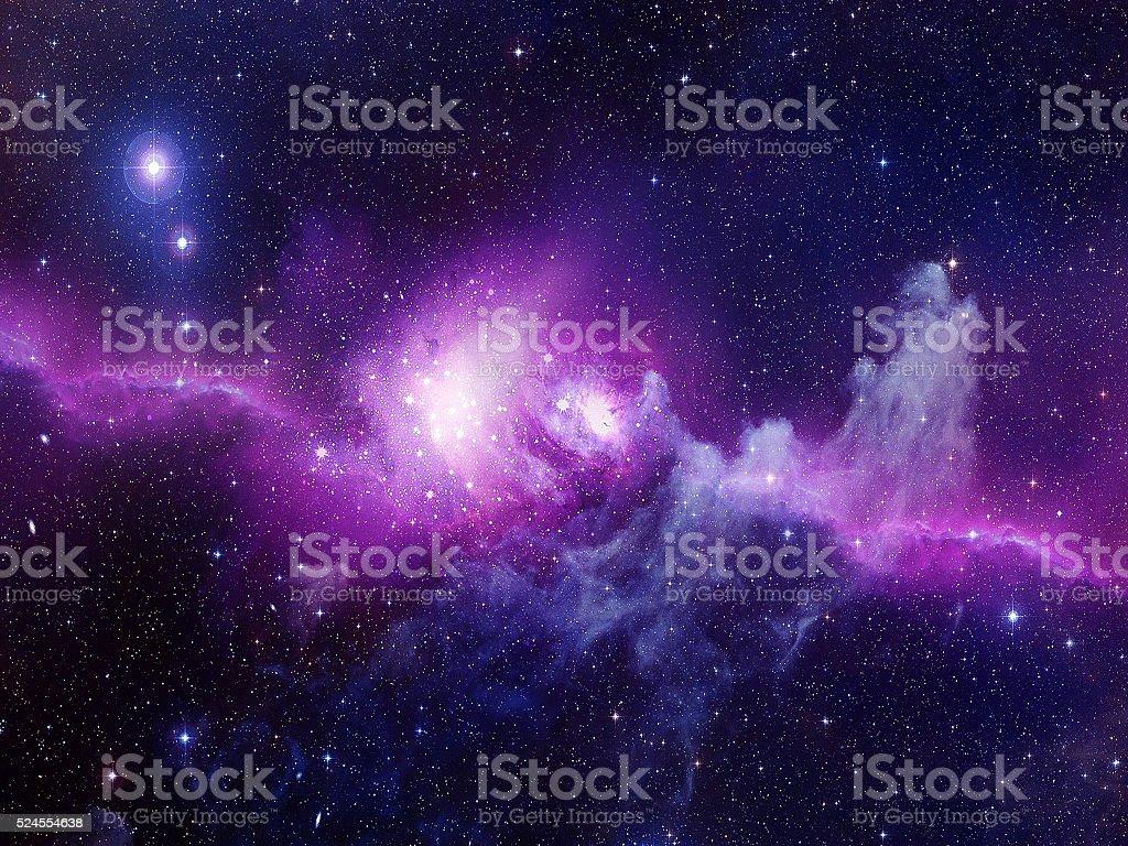 Universe filled with stars, nebula and galaxy stock photo