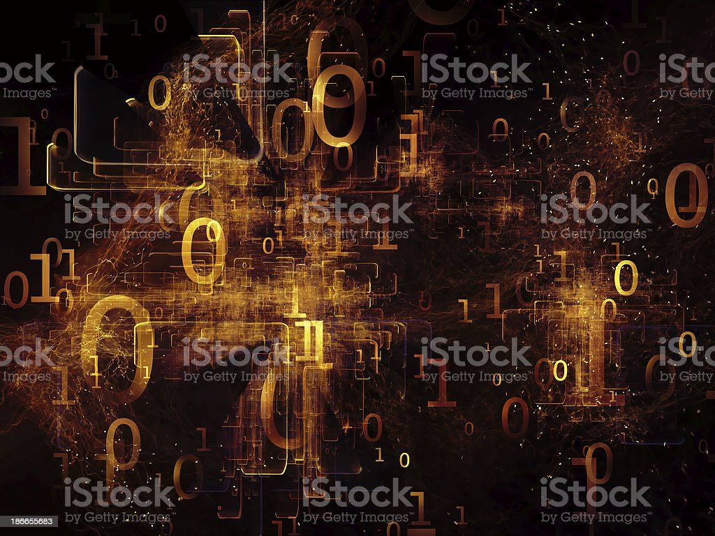 Universe of Numbers royalty-free stock photo